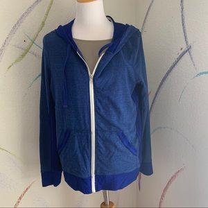 ABBOT MAIN NWT Size L Contemporary Blue Zip Hoodie